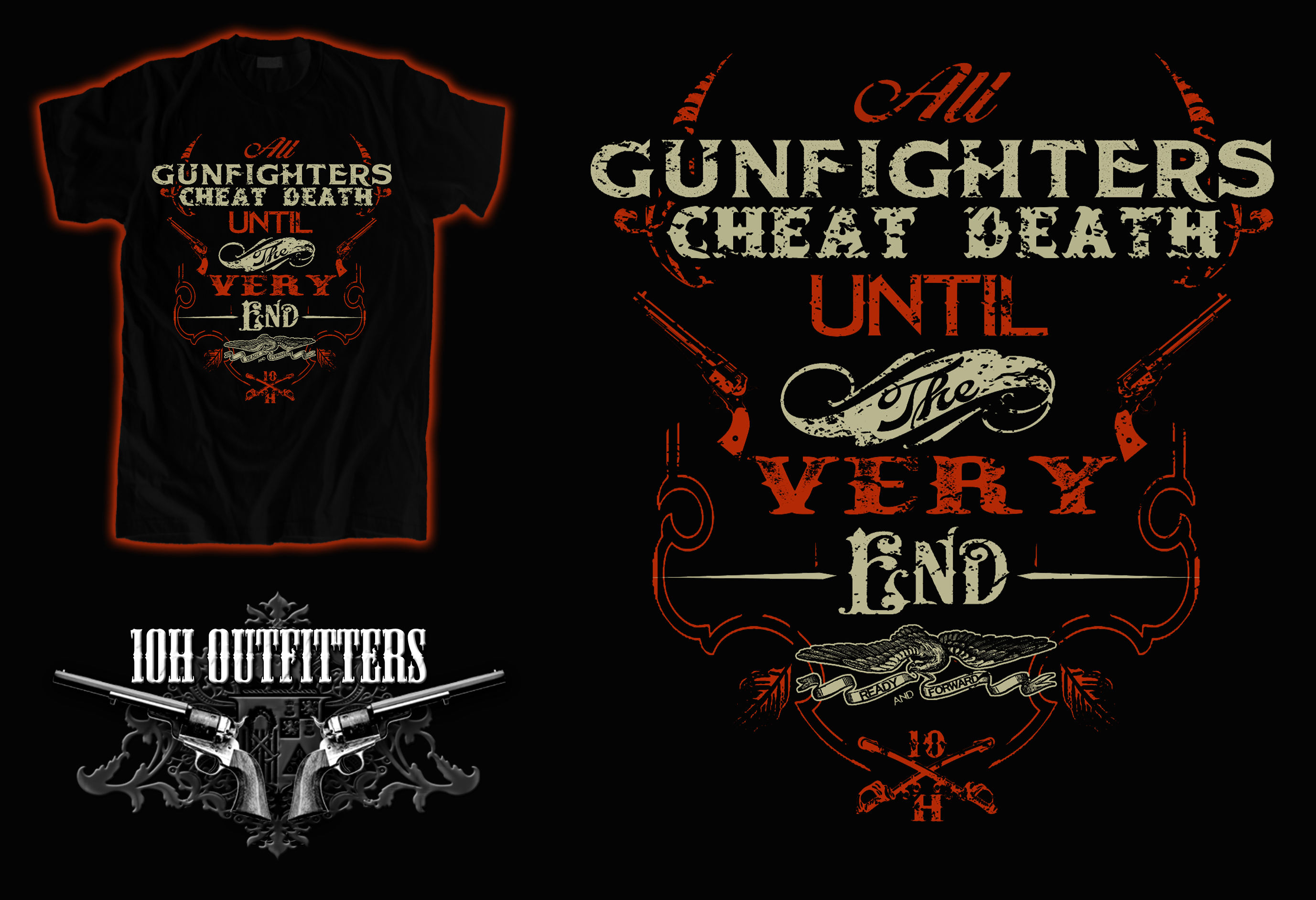 Old Western Typography Design 10houtfitters